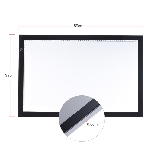 A2 LED Light Box Drawing Tracing Tracer Copy Board Table Pad Panel Copyboard with Memory Function Stepless Brightness Control forComputer &amp; Stationery<br>A2 LED Light Box Drawing Tracing Tracer Copy Board Table Pad Panel Copyboard with Memory Function Stepless Brightness Control for<br>