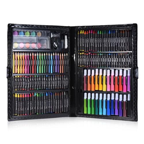 168шт. Набор для рисования. Набор для рисования. Набор для рисования. Начертание цветных карандашей. Карандаш. Масло. Пастель. Цвет воды. Клей с футляром для детей.