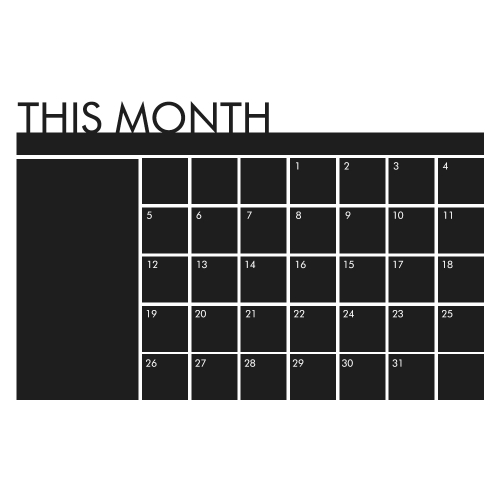 Wall Sticker Removable Charlkboard Calendar Wall Decal Month Calendar Memo Board Blackboard Sticker Organizer Room/Office/School DComputer &amp; Stationery<br>Wall Sticker Removable Charlkboard Calendar Wall Decal Month Calendar Memo Board Blackboard Sticker Organizer Room/Office/School D<br>