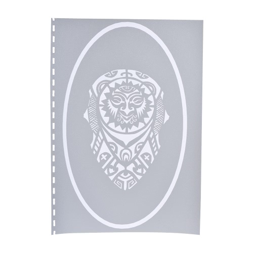 Reusable Airbrush Temporary Adhesive Stencils Template Book for Henna Tattoo Body Art Painting Supplies A4 SizeComputer &amp; Stationery<br>Reusable Airbrush Temporary Adhesive Stencils Template Book for Henna Tattoo Body Art Painting Supplies A4 Size<br>