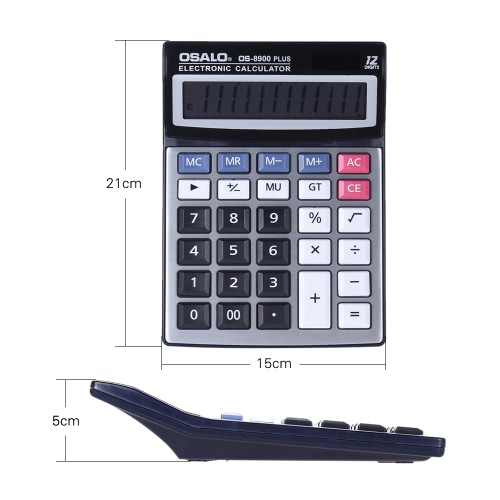 Standard Function Desktop Electronic Calculator 12 Digits Large Display Solar and Battery Dual Power Supply Metal Panel for SchoolComputer &amp; Stationery<br>Standard Function Desktop Electronic Calculator 12 Digits Large Display Solar and Battery Dual Power Supply Metal Panel for School<br>