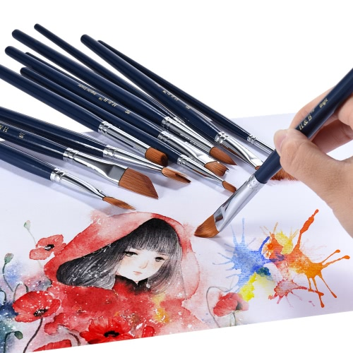 Professional Artist Paint Brush Kit Including 12pcs Nylon Hair Short Handle Watercolor Acrylic Gouache Oil Painting Brushes with CComputer &amp; Stationery<br>Professional Artist Paint Brush Kit Including 12pcs Nylon Hair Short Handle Watercolor Acrylic Gouache Oil Painting Brushes with C<br>