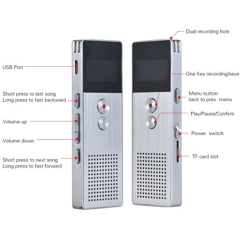8GB Digital Voice Recorder Dictaphone MP3 Music Player Stereo SoundComputer &amp; Stationery<br>8GB Digital Voice Recorder Dictaphone MP3 Music Player Stereo Sound<br>