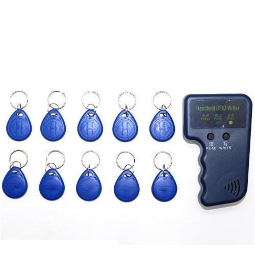 Handheld 125KHz RFID ID-Karte Kopierer Writer Duplicator Programmer Reader Code Beschreibbar EM4305 ID Keyfobs Tags Karte Key Cards