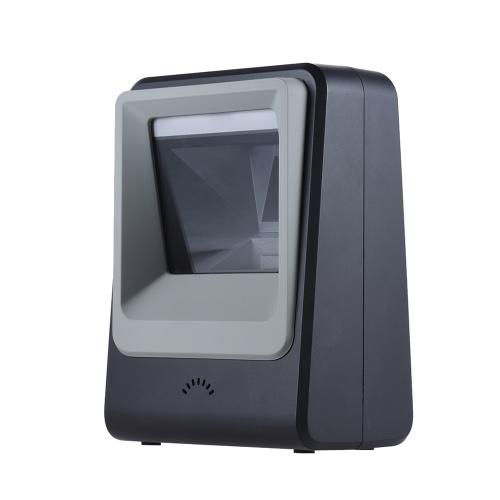 Con cable de escritorio automática de códigos de barras 1D QR 2D imagen del escáner lector de exploración de la plataforma de manos libres para el pago móvil Almacén Supermercado Biblioteca Express Company tienda al por menor