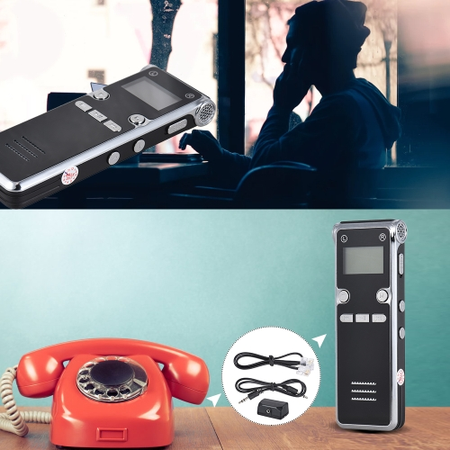 8GB Digital Voice Recorder MP3 Player Sound Activated Telephone RecorderComputer &amp; Stationery<br>8GB Digital Voice Recorder MP3 Player Sound Activated Telephone Recorder<br>
