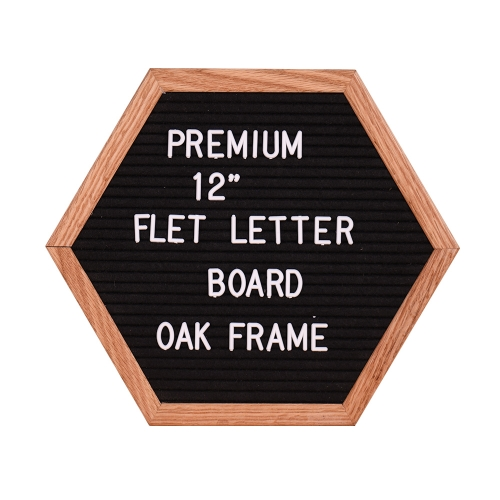 12 Felt Letter Board Unique Hexagon Sign Message Home Office Decor Board Oak FrameComputer &amp; Stationery<br>12 Felt Letter Board Unique Hexagon Sign Message Home Office Decor Board Oak Frame<br>