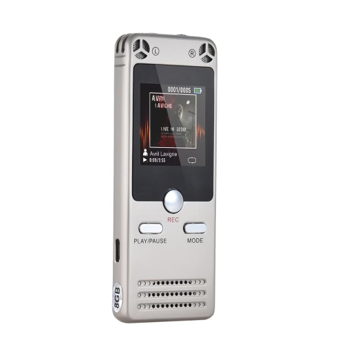 Portable 8GB Memory Digital Audio Voice Recorder Dictaphone MP3 A-B Repeating Built-in HiFi SpeakerComputer &amp; Stationery<br>Portable 8GB Memory Digital Audio Voice Recorder Dictaphone MP3 A-B Repeating Built-in HiFi Speaker<br>