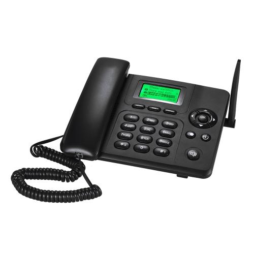 Téléphone sans fil de bureau GSM Téléphone fixe Support 2 Carte SIM 2G pour Maison Maison Centre d'appel Bureau Entreprise Hôtel