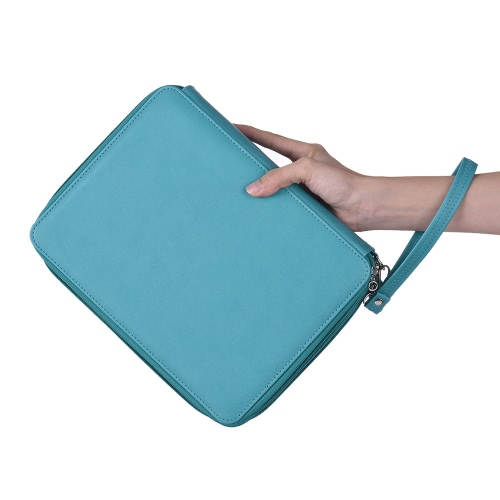 136 Slots Color Pencil Case Multi-functional Bag Pu Leather Zippered Portable with Handle StrapComputer &amp; Stationery<br>136 Slots Color Pencil Case Multi-functional Bag Pu Leather Zippered Portable with Handle Strap<br>