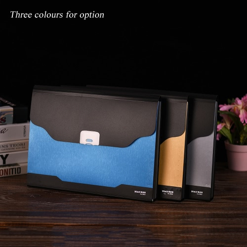 13-Pockets A4 Size Expandable Accordion Document File Folder Organizer Expander Holder Bag with Buckle ClosureComputer &amp; Stationery<br>13-Pockets A4 Size Expandable Accordion Document File Folder Organizer Expander Holder Bag with Buckle Closure<br>