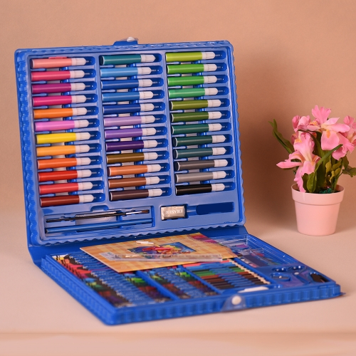 148pcs Deluxe Art Set for Kids with Case Colored Markers Color Pencils Crayons Watercolors Gift for Children Painting SuppliesComputer &amp; Stationery<br>148pcs Deluxe Art Set for Kids with Case Colored Markers Color Pencils Crayons Watercolors Gift for Children Painting Supplies<br>