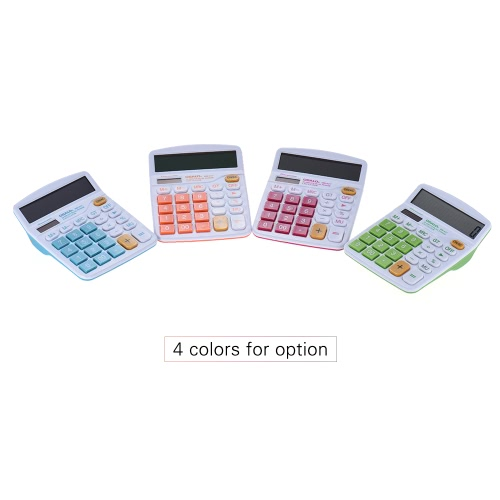 Handheld Colorful Standard Function Desktop Electronic Calculator Solar and Battery Dual Powered 12 Digits GreenComputer &amp; Stationery<br>Handheld Colorful Standard Function Desktop Electronic Calculator Solar and Battery Dual Powered 12 Digits Green<br>