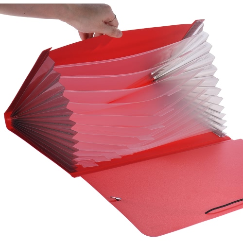 A4/Legal/Letter Size 13-Pocket Poly Expanding File Folder Organizer Jacket for Contract Tax Documents Bill Statements Brief ReportComputer &amp; Stationery<br>A4/Legal/Letter Size 13-Pocket Poly Expanding File Folder Organizer Jacket for Contract Tax Documents Bill Statements Brief Report<br>