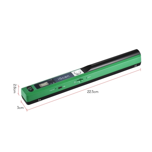 Portable Handheld Wand Wireless Scanner A4 Size 900DPI JPG/PDF Formate LCD Display with Protecting Bag for Business Document RecieComputer &amp; Stationery<br>Portable Handheld Wand Wireless Scanner A4 Size 900DPI JPG/PDF Formate LCD Display with Protecting Bag for Business Document Recie<br>