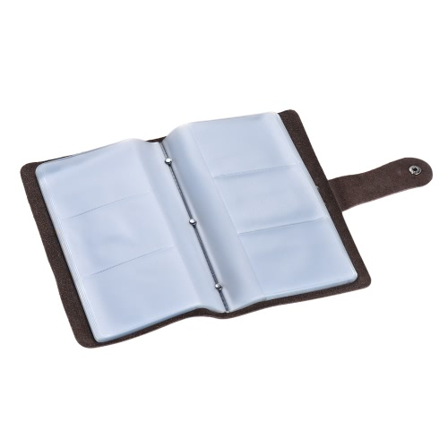 High-quality Leather Business Credit Bank ID Name Card Holder Case Bag Wallet Book Style with 96 Card Pockets for Men WomenComputer &amp; Stationery<br>High-quality Leather Business Credit Bank ID Name Card Holder Case Bag Wallet Book Style with 96 Card Pockets for Men Women<br>