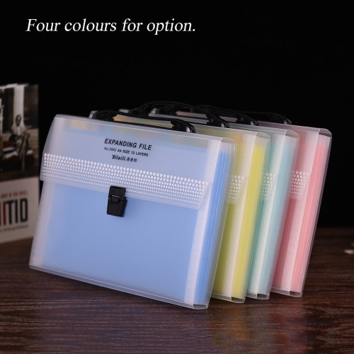 A4/Legal/Letter Size 13-Pocket Transparent Poly Expanding File Folder Organizer Jacket with Buckle Closure for Contract Tax DocumeComputer &amp; Stationery<br>A4/Legal/Letter Size 13-Pocket Transparent Poly Expanding File Folder Organizer Jacket with Buckle Closure for Contract Tax Docume<br>