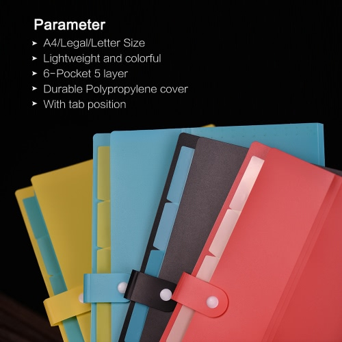 A4/Legal/Letter Size Poly Expanding File Folder Organizer Jacket with Buckle Closure for Contract Tax Documents Monthly Bill StateComputer &amp; Stationery<br>A4/Legal/Letter Size Poly Expanding File Folder Organizer Jacket with Buckle Closure for Contract Tax Documents Monthly Bill State<br>