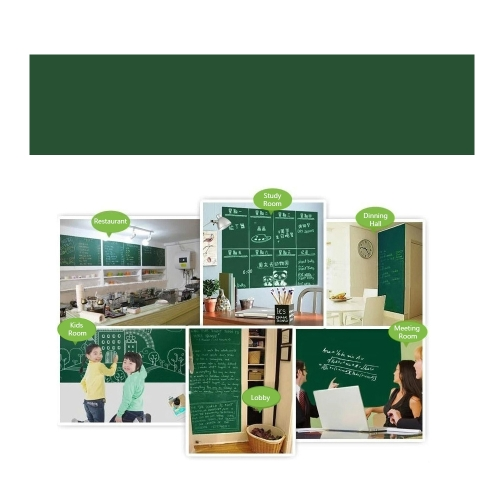 Wall Sticker Educational White Chalkboard Sticker Cuttable Blackboard Notice Board PVC Decal for Home School Office Restaurant DecComputer &amp; Stationery<br>Wall Sticker Educational White Chalkboard Sticker Cuttable Blackboard Notice Board PVC Decal for Home School Office Restaurant Dec<br>
