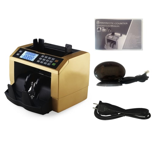 LCD Display Automatic Multi-Currency Cash Banknote Money Bill Counter Counting Machine with UV MG Counterfeit Detector External DiComputer &amp; Stationery<br>LCD Display Automatic Multi-Currency Cash Banknote Money Bill Counter Counting Machine with UV MG Counterfeit Detector External Di<br>