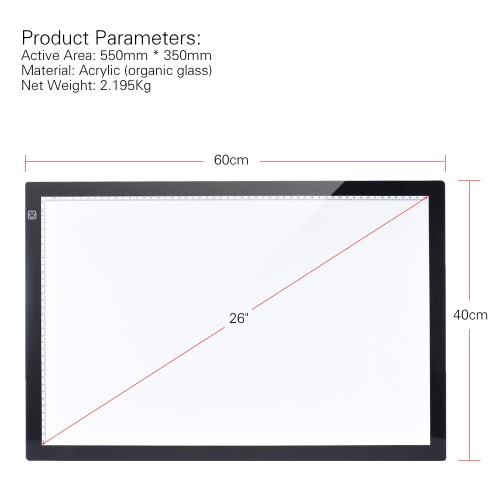 A2 60 * 40cm 26 inch LED Artist Stencil Board Tattoo Drawing Tracing Table Display Light Box Pad LED Copy Board Intelligent TouchComputer &amp; Stationery<br>A2 60 * 40cm 26 inch LED Artist Stencil Board Tattoo Drawing Tracing Table Display Light Box Pad LED Copy Board Intelligent Touch<br>
