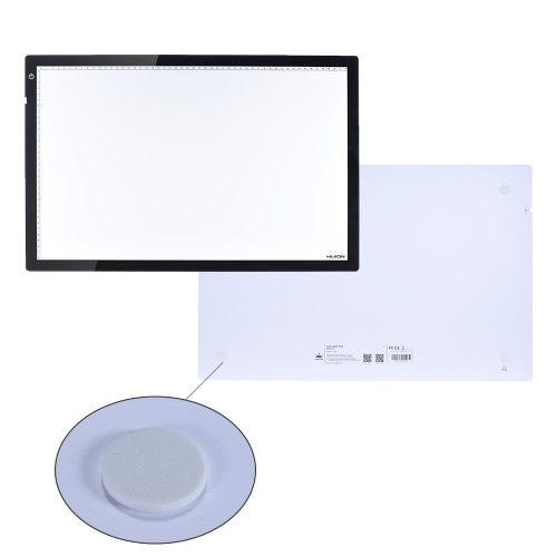 HUION A2 24.5 Portable Cartoon Tattoo Tracing Drawing LED Light Pad Box Panel Table Copyboard Adjustable Brightness with Power AdComputer &amp; Stationery<br>HUION A2 24.5 Portable Cartoon Tattoo Tracing Drawing LED Light Pad Box Panel Table Copyboard Adjustable Brightness with Power Ad<br>