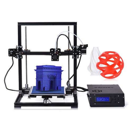 TRONXY X3 Desktop 3D Drucker Kit DIY Selbstmontage Große Druckgröße 220 * 220 * 300mm mit LCD-Bildschirm 8 GB Speicherkarte USB-Schnittstelle Unterstützung PLA / ABS / HIPS / HOLZ / PC / PVC-Filament