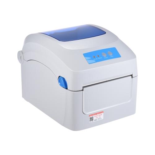 Impresora térmica Gprinter GP-1324D 1D 2D QR Dirección de etiqueta de código de barras E-Waybill Impresión 8 pulgadas Velocidad rápida 20-118mm Ancho con etiqueta externa Entrada para Express Logistics Almacén de paquetes postales