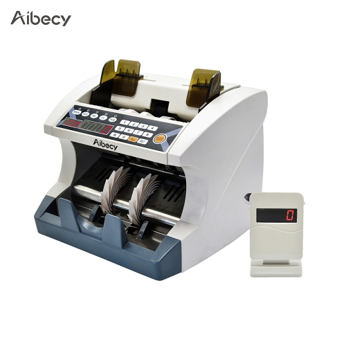 Aibecy Multi-Currency Automatic Cash Banknote Money Bill Counter Counting Machine with UV MG Counterfeit Detector External DisplayComputer &amp; Stationery<br>Aibecy Multi-Currency Automatic Cash Banknote Money Bill Counter Counting Machine with UV MG Counterfeit Detector External Display<br>