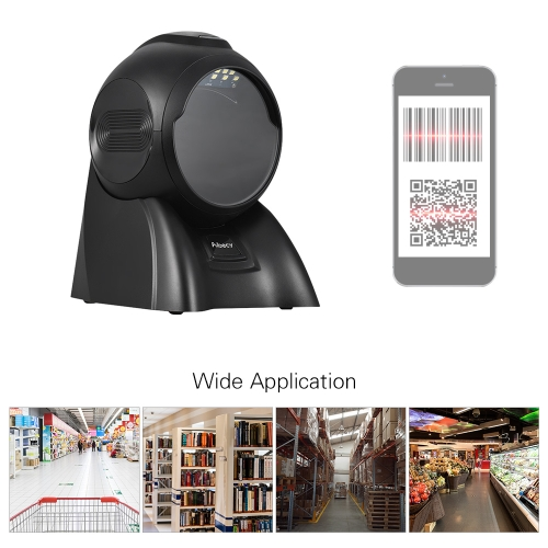 Aibecy Desktop 1D 2D Barcode Scanner Presentation Omni Omnidirectional Scanner Bar Code Reader 2300 times/s with USB Cable for StoComputer &amp; Stationery<br>Aibecy Desktop 1D 2D Barcode Scanner Presentation Omni Omnidirectional Scanner Bar Code Reader 2300 times/s with USB Cable for Sto<br>