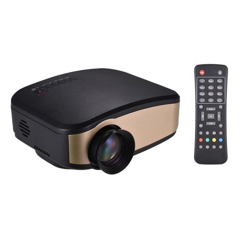 Wifi LCD Projecteur Projecteur vidéo portable LED peut synchroniser le support d'écran 1080P avec TV USB HD VGA AV entrée pour PC Smartphones Périphériques de jeu