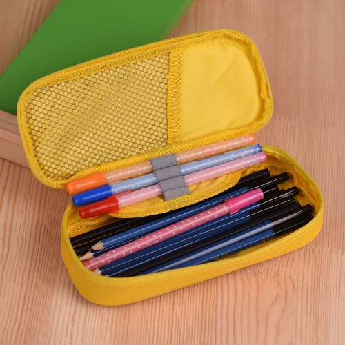 Multifuctional Candy Color Pen Pencil Stationery Case Box Student Children Gift Makeup Cosmetic Brush Storage Bag Pouch YellowComputer &amp; Stationery<br>Multifuctional Candy Color Pen Pencil Stationery Case Box Student Children Gift Makeup Cosmetic Brush Storage Bag Pouch Yellow<br>