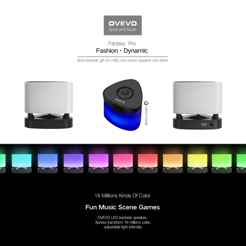 Original OVEVO Fantasy Z1 Pro Bluetooth 4.0 Smart Speaker Mini Intelligent LED Night Lamp Touch Panel Button for iPhone Samsung HTCellphone &amp; Accessories<br>Original OVEVO Fantasy Z1 Pro Bluetooth 4.0 Smart Speaker Mini Intelligent LED Night Lamp Touch Panel Button for iPhone Samsung HT<br>