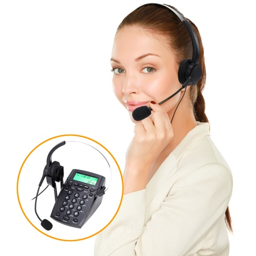 HT500 Headset Telephone Desk Phone Headphones Headset Hands-free Call Center Noise Cancellation Monaural with BacklightCellphone &amp; Accessories<br>HT500 Headset Telephone Desk Phone Headphones Headset Hands-free Call Center Noise Cancellation Monaural with Backlight<br>