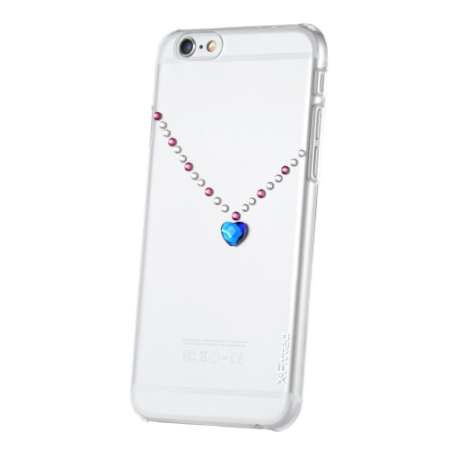 Original X-Fitted Luxury Protective Clear Back Case Plate Bumper Phone Shell Hard Cover with Rhinestones Plating Design for iPhoneCellphone &amp; Accessories<br>Original X-Fitted Luxury Protective Clear Back Case Plate Bumper Phone Shell Hard Cover with Rhinestones Plating Design for iPhone<br>