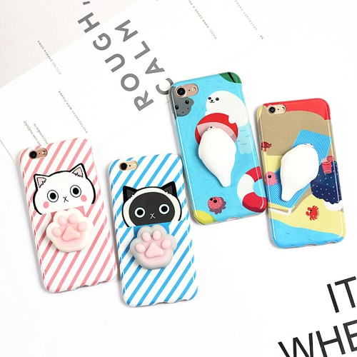 Rabbit with Black Background for iPhone6/6S Case Cute 3D Squishy Silicon TPU Shell Squeeze Stress Relieve Toys Mobliephone Back CoCellphone &amp; Accessories<br>Rabbit with Black Background for iPhone6/6S Case Cute 3D Squishy Silicon TPU Shell Squeeze Stress Relieve Toys Mobliephone Back Co<br>