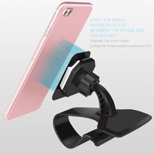 Universal Magnetic Cell Phone Holder Clip-on Vehicle Dashboard Bracket Car Mount Holder Stand Safety Mobile Phone Bracket for iPadCellphone &amp; Accessories<br>Universal Magnetic Cell Phone Holder Clip-on Vehicle Dashboard Bracket Car Mount Holder Stand Safety Mobile Phone Bracket for iPad<br>