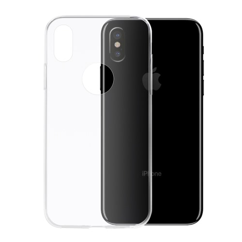 Clear Soft TPU Back Case Transparent Protective Cover Ultra-thin Crystal Clear Shell Protection for iPhone XCellphone &amp; Accessories<br>Clear Soft TPU Back Case Transparent Protective Cover Ultra-thin Crystal Clear Shell Protection for iPhone X<br>