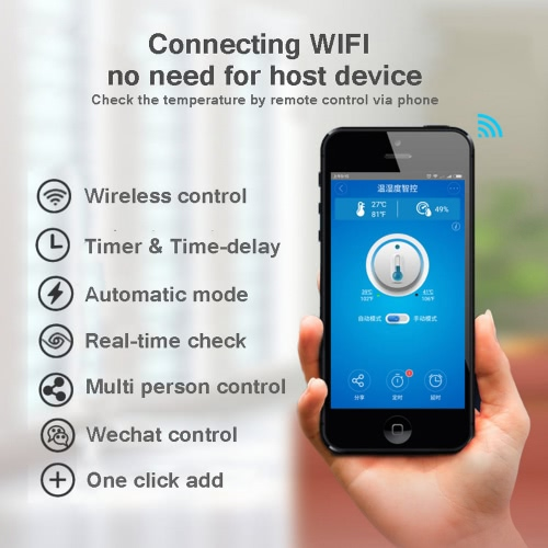 Sonoff TH10 WiFi Smart Switch Remote Controller Smartphone Temperature and Humidity Sensor for Smart HomeCellphone &amp; Accessories<br>Sonoff TH10 WiFi Smart Switch Remote Controller Smartphone Temperature and Humidity Sensor for Smart Home<br>