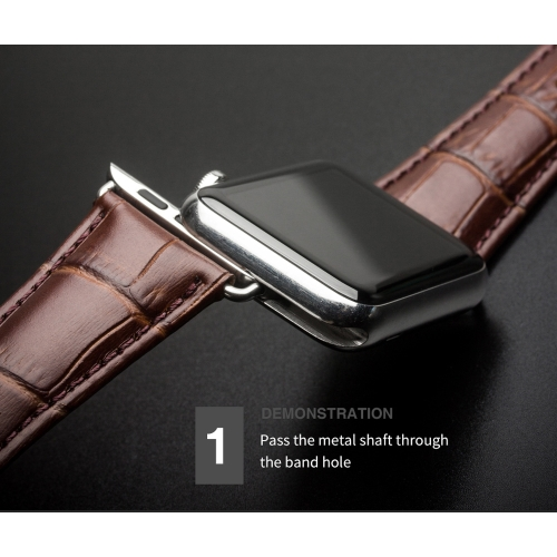 QIALINO Pull-up Genuine Cow Leather Replacement Watch Band Strap for Apple iWatch Series 3/2/1 42mm Sport / Edition Mens WomensCellphone &amp; Accessories<br>QIALINO Pull-up Genuine Cow Leather Replacement Watch Band Strap for Apple iWatch Series 3/2/1 42mm Sport / Edition Mens Womens<br>