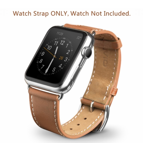 QIALINO Pull-up Genuine Leather Replacement Watch Band Strap for Apple iWatch Series 3/2/1 42mm Sport / Edition Mens Womens BracCellphone &amp; Accessories<br>QIALINO Pull-up Genuine Leather Replacement Watch Band Strap for Apple iWatch Series 3/2/1 42mm Sport / Edition Mens Womens Brac<br>
