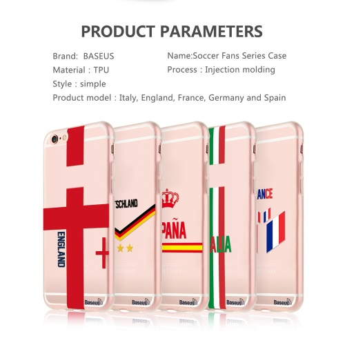 Baseus TPU Phone Case Sport Europe UK / France / Spain / Germany / Italy Soccer Football Fans Protective Cover Shell for 4.7 IncheCellphone &amp; Accessories<br>Baseus TPU Phone Case Sport Europe UK / France / Spain / Germany / Italy Soccer Football Fans Protective Cover Shell for 4.7 Inche<br>