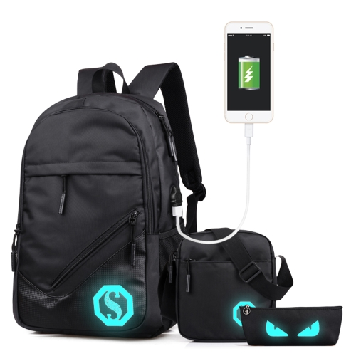 Fashion Teenagers Men Womens Backpack Pen Bag Haversack Luminous Student Cartoon School BagsApparel &amp; Jewelry<br>Fashion Teenagers Men Womens Backpack Pen Bag Haversack Luminous Student Cartoon School Bags<br>