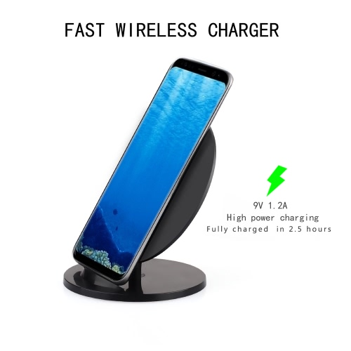 Itian Q8 10W Wireless Qi Standard Charger Charging Pad Stand for iPhone X 8 Samsung Galaxy S8+ Note 8