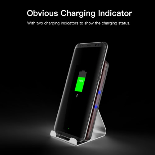 Qi Wireless Fast Charger Charging Stand Holder for iPhone 8/8 Plus iPhone X and Other Qi-enabled SmartphonesCellphone &amp; Accessories<br>Qi Wireless Fast Charger Charging Stand Holder for iPhone 8/8 Plus iPhone X and Other Qi-enabled Smartphones<br>