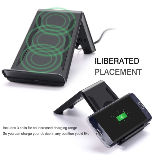 KKmoon A6 Portable Qi Wireless Charger Transmitter Three Coils Charging Pad Cellphone Stand Holder for Samsung S7 S7 edge S6 S6 edCellphone &amp; Accessories<br>KKmoon A6 Portable Qi Wireless Charger Transmitter Three Coils Charging Pad Cellphone Stand Holder for Samsung S7 S7 edge S6 S6 ed<br>