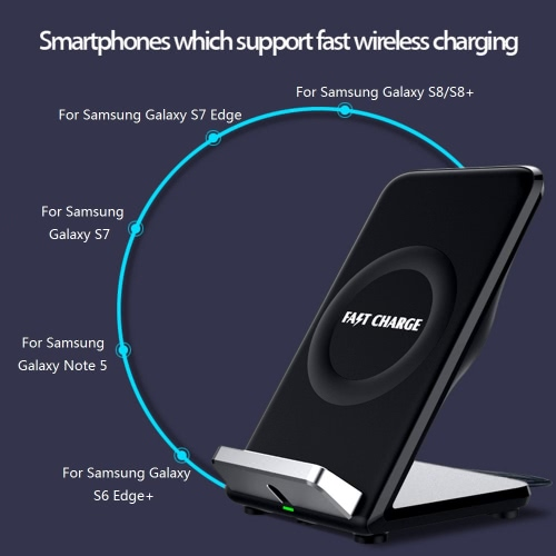 Qi Wireless Fast Charging Stand Holder Quick Charge Built-in Cooling Fan Dual Coils for iPhone 8/8 Plus iPhone X Samsung Galaxy S8Cellphone &amp; Accessories<br>Qi Wireless Fast Charging Stand Holder Quick Charge Built-in Cooling Fan Dual Coils for iPhone 8/8 Plus iPhone X Samsung Galaxy S8<br>