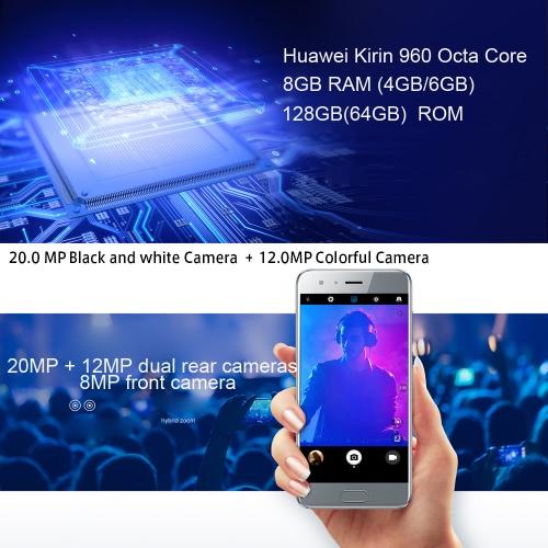 Huawei Honor 9 Smartphone 4G Phone 5.15inch FHD Screen  6GB RAM 128GB ROMCellphone &amp; Accessories<br>Huawei Honor 9 Smartphone 4G Phone 5.15inch FHD Screen  6GB RAM 128GB ROM<br>