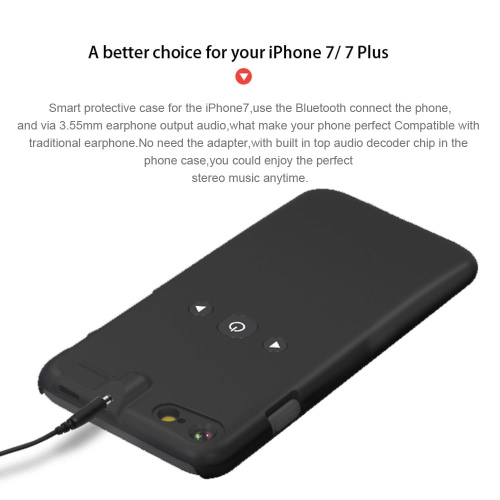 3 in 1 Smart Phone Case Bluetooth Player 3.5mm Earphone Jack Aux Audio Converter Protective ABS Case Music Control for iPhone 7Cellphone &amp; Accessories<br>3 in 1 Smart Phone Case Bluetooth Player 3.5mm Earphone Jack Aux Audio Converter Protective ABS Case Music Control for iPhone 7<br>