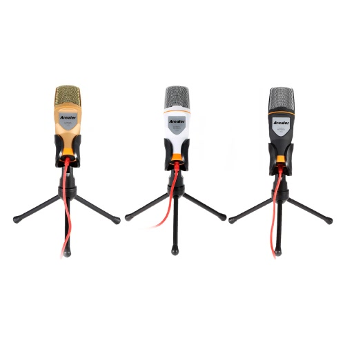 Arealer Mic Wired Condenser Microphone with Holder Clip for Chatting Singing Karaoke PC LaptopCellphone &amp; Accessories<br>Arealer Mic Wired Condenser Microphone with Holder Clip for Chatting Singing Karaoke PC Laptop<br>